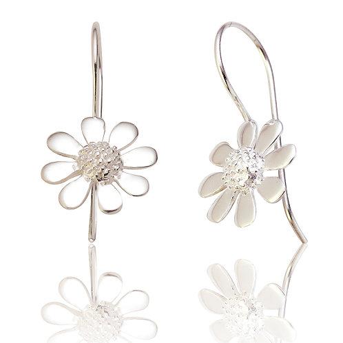 Seodra Sterling Silver Daisy Drop Earrings