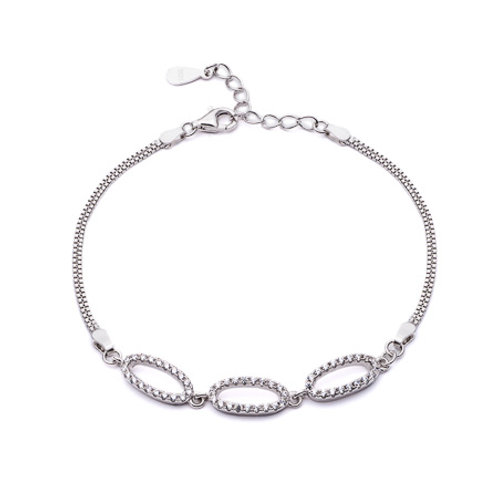 Seodra Silver Ovals Bracelet