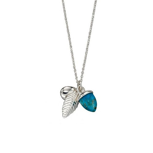 Elements Silver and Truquoise Acorn