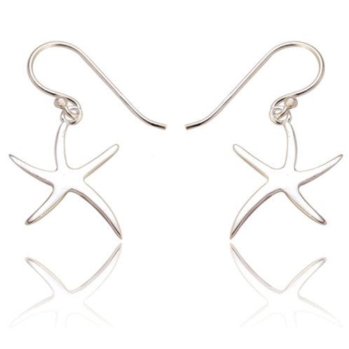 Seodra Sterling Silver Starfish Drop Earrings