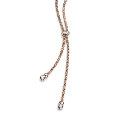 Virtue Exquisite Rose Gold Tassel Necklace