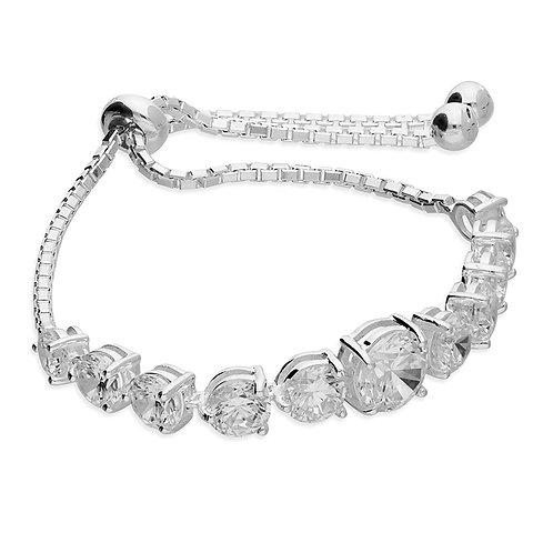 Seodra Silver Adjustable Tennis Bracelet