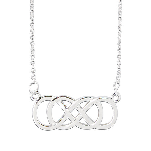 SEODRA Sterling Silver Celtic Style Infinity Necklace