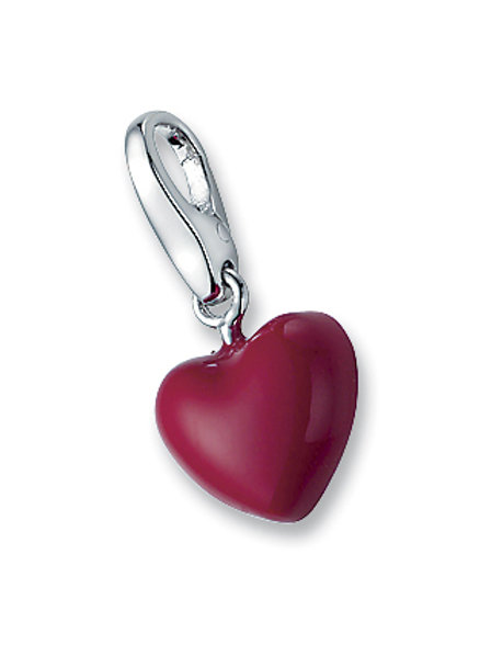 Giorgio Martello Lucky Charms: Sterling Silver Red Puff Heart