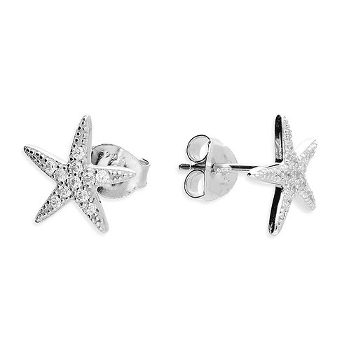 Seodra Sterling Silver Starfish Stud Earrings