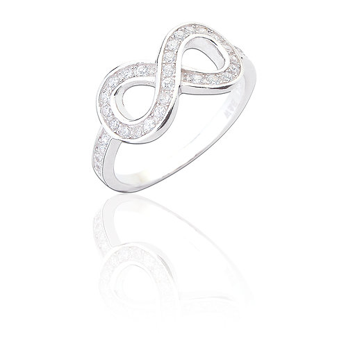 Seodra Sterling Silver & Cubic Zirconia Infinity Ring