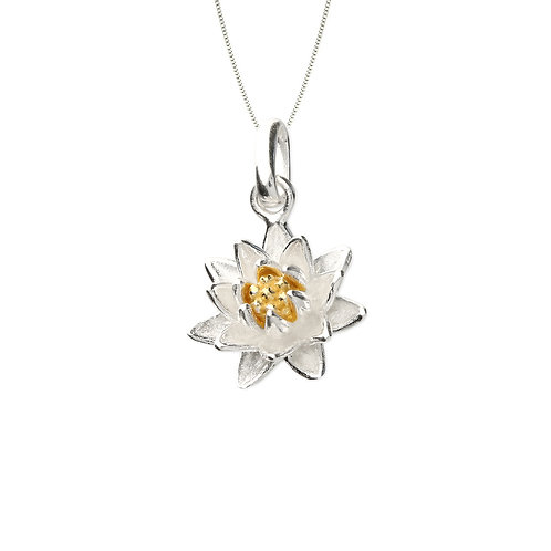 Seodra Sterling Silver & Gold Plate Water Lily