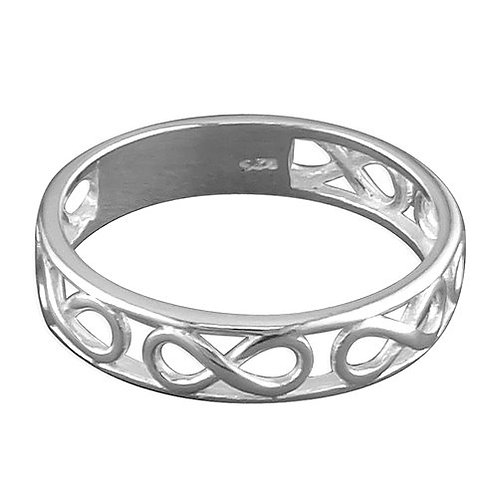 Seodra Sterling Silver Infinity Band Ring