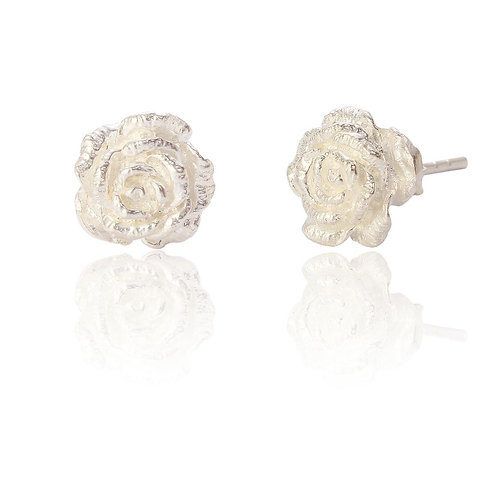 Seodra Sterling Silver Rose Stud Earrings