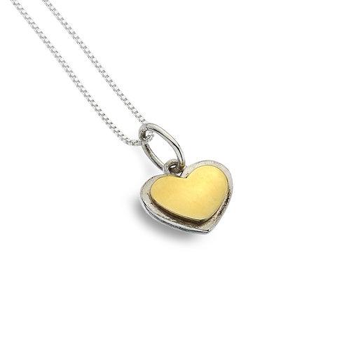 Pure Origins Silver Heart Necklace