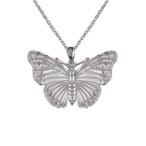 Seodra Silver Butterfly Necklace