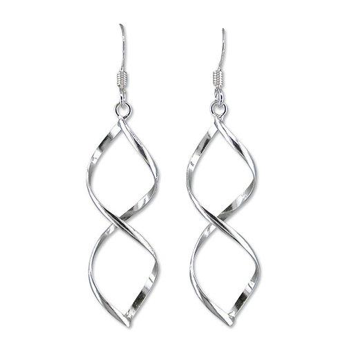 Seodra Sterling Silver Twisted Wire Teardrop Earrings