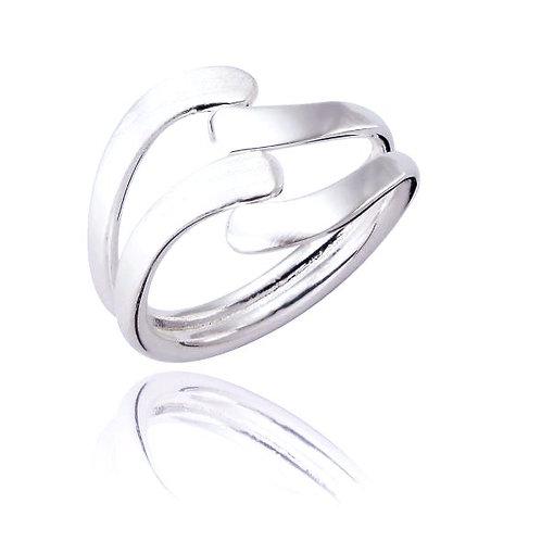 Seodra Silver Wave Ring
