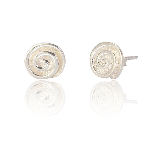 Seodra Sterling Silver Spiral Stud Earrings