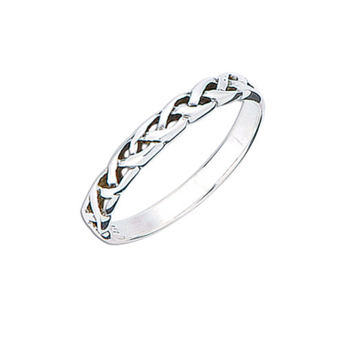 Seodra Silver Celtic Weave Ring