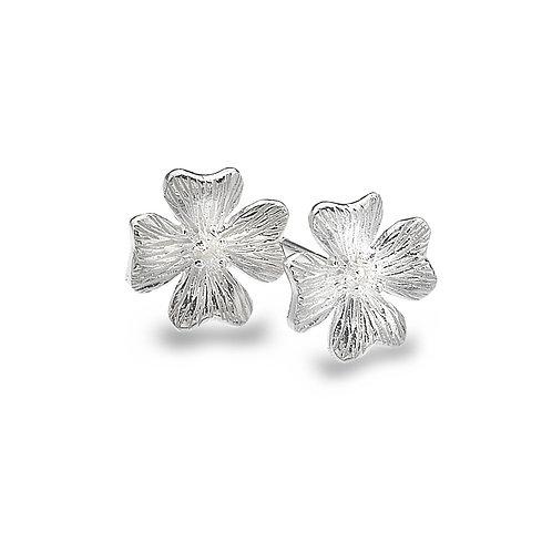 Pure Origins Sterling Silver Geranium Flower Stud Earrings