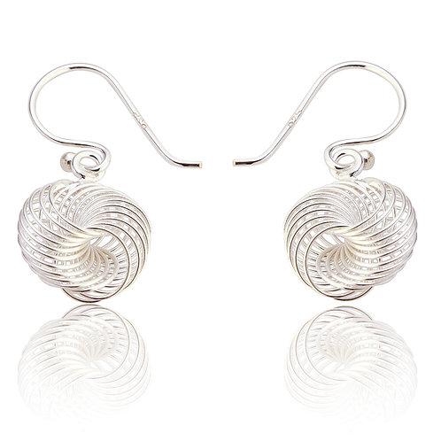 Seodra Sterling Silver Spirograph Drop Earings