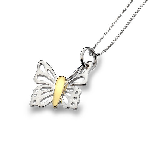 Pure Origins Silver Butterfly Necklace