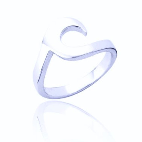 Seodra Sterling Silver Wave Design Ring
