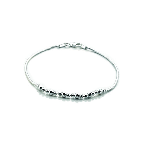 Virtue Exquisite Sterling Silver Bead Bracelet