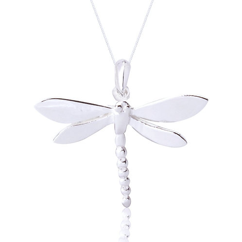 Seodra Sterling Silver Dragonfly Necklace