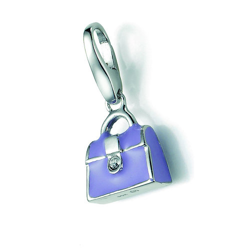 Giorgio Martello Lucky Charms: Sterling Silver Purple Handbag