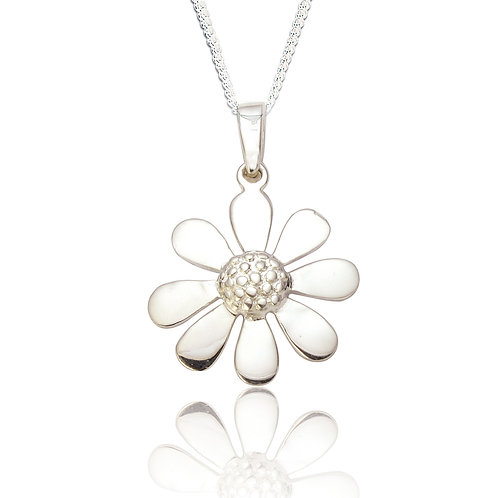 Seodra Sterling Silver Daisy Necklace