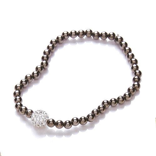 Rhodium Glitterball Bracelet