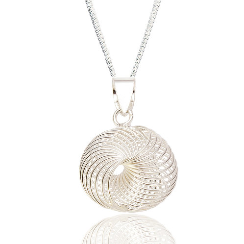 Seodra Sterling Silver Spirograph Necklace