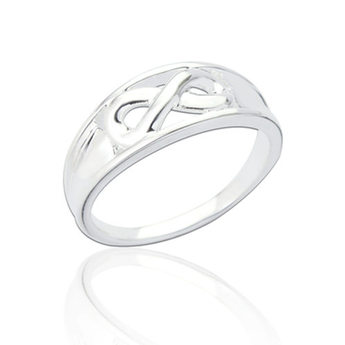 SEODRA Silver Infinity Design Ring