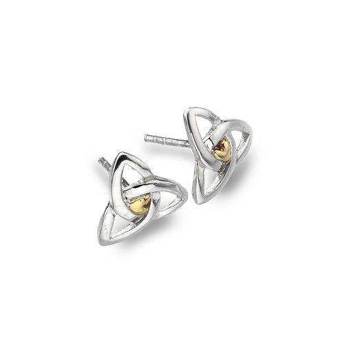 Celtic Lands Sterling Silver Trinity Stud Earrings