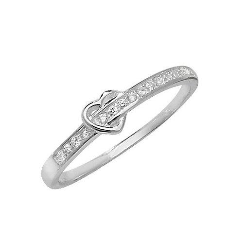 Seodra Sterling Silver Heart Ring