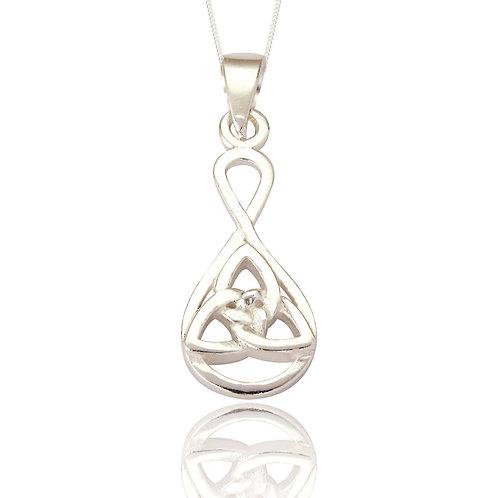Seodra Sterling Silver Celtic Trinity Necklace