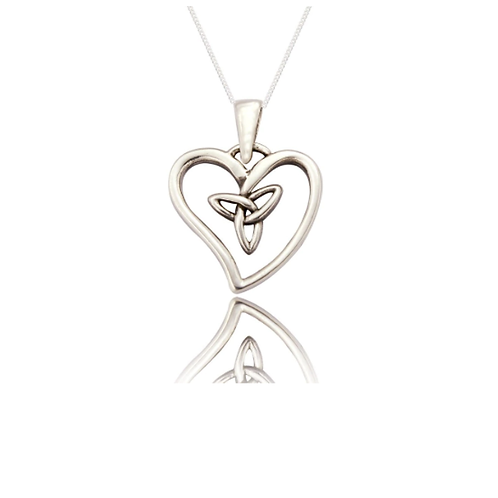 Seodra Sterling Silver Celtic Heart Necklace