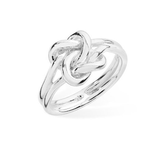 Seodra Silver Double Knot Ring