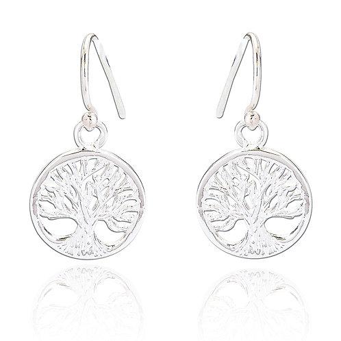 Seodra Sterling Silver Tree of Life Earrings