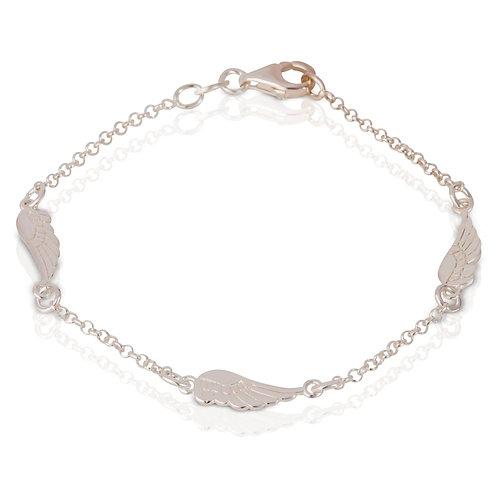 Seodra Silver Angel Wing Bracelet