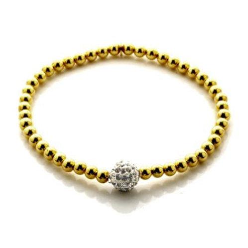 Seodra Sterling Silver & Gold Plate Glitterball Bracelet