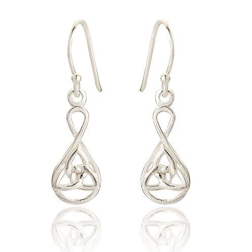 Seodra Sterling Silver Trinity Earrings