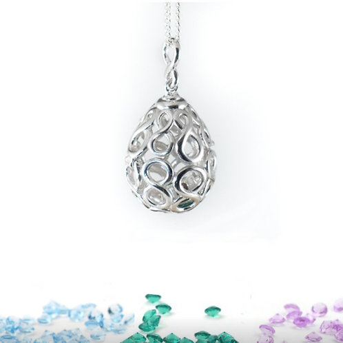 Seodra Swarovski Crystal Birthstone Locket