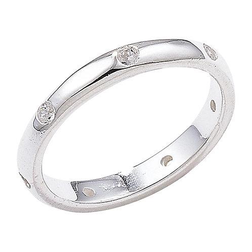 Seodra Sterling Silver & Cubic Zirconia Eternity Style Ring