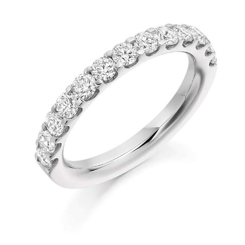 Seodra Sterling Silver & Cubic Zirconia Half Eternity Ring