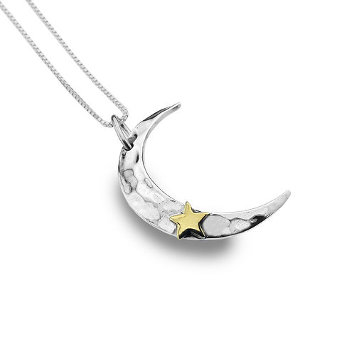Pure Origins Sterling Silver Crescent Moon Necklace