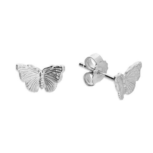 Seodra Sterling Silver Red Admiral Butterfly Stud Earrings