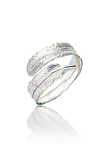 Seodra Sterling Silver Feather Ring