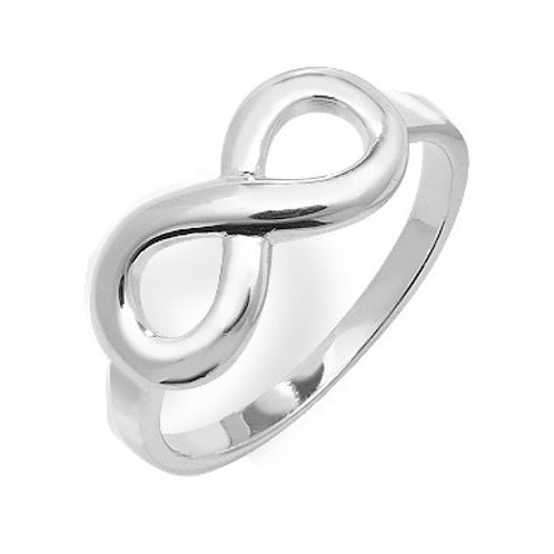 Seodra Sterling Silver Infinity Ring