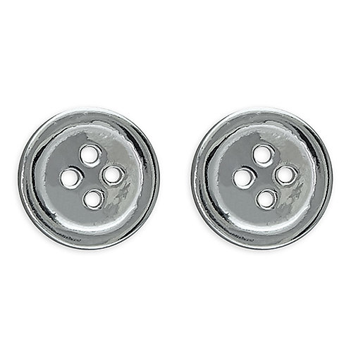 Seodra Sterling Silver Button Stud Earrings