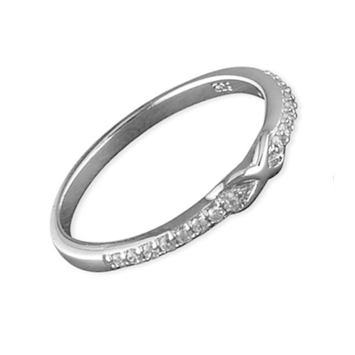 Seodra Silver & Cubic Zirconia Infinity Ring