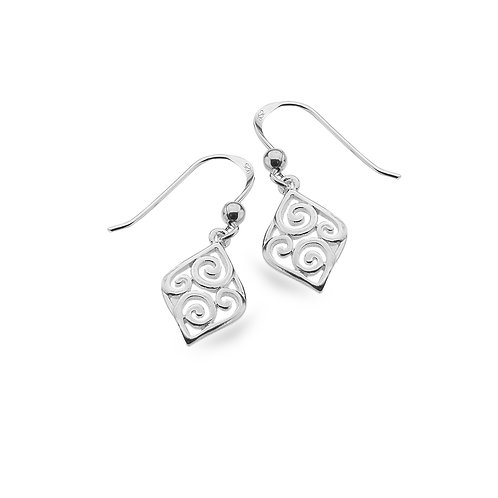 Pure Origins Silver Scroll Earrings