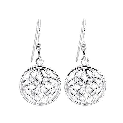Seodra Sterling Silver Triquetra Knot Earrings